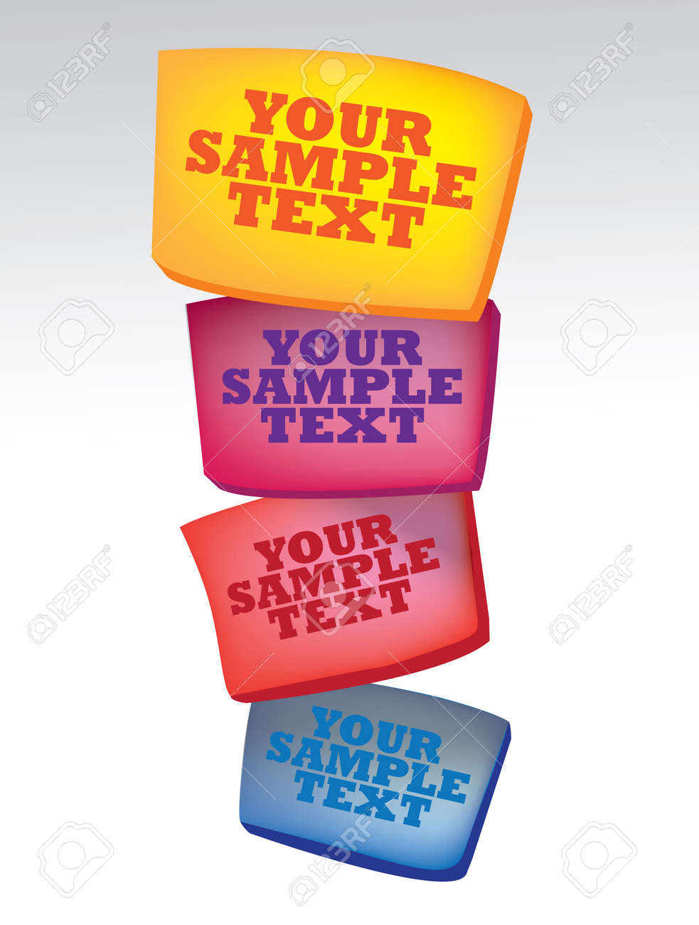 illustration of 4 colors boxes with sample text Stock Vector - 14878768