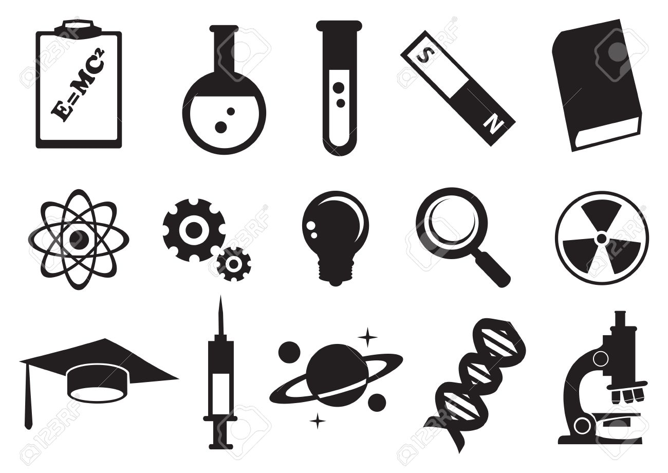 Vector Illustration Of Tools And Symbols For Science Education