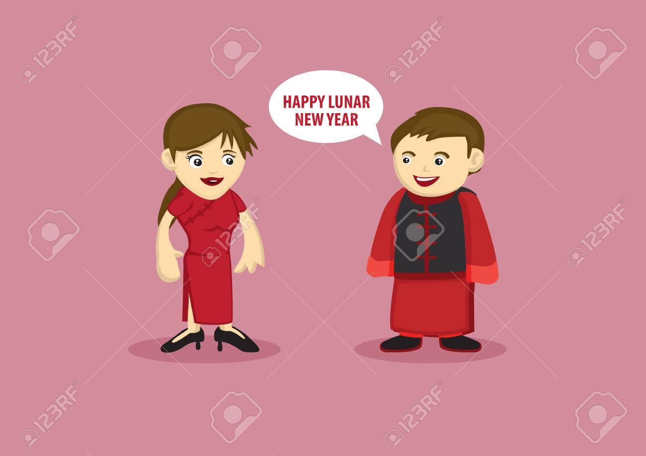 Ilustración Vectorial De Un Hombre En El Tradicional Saludo Vestido ...