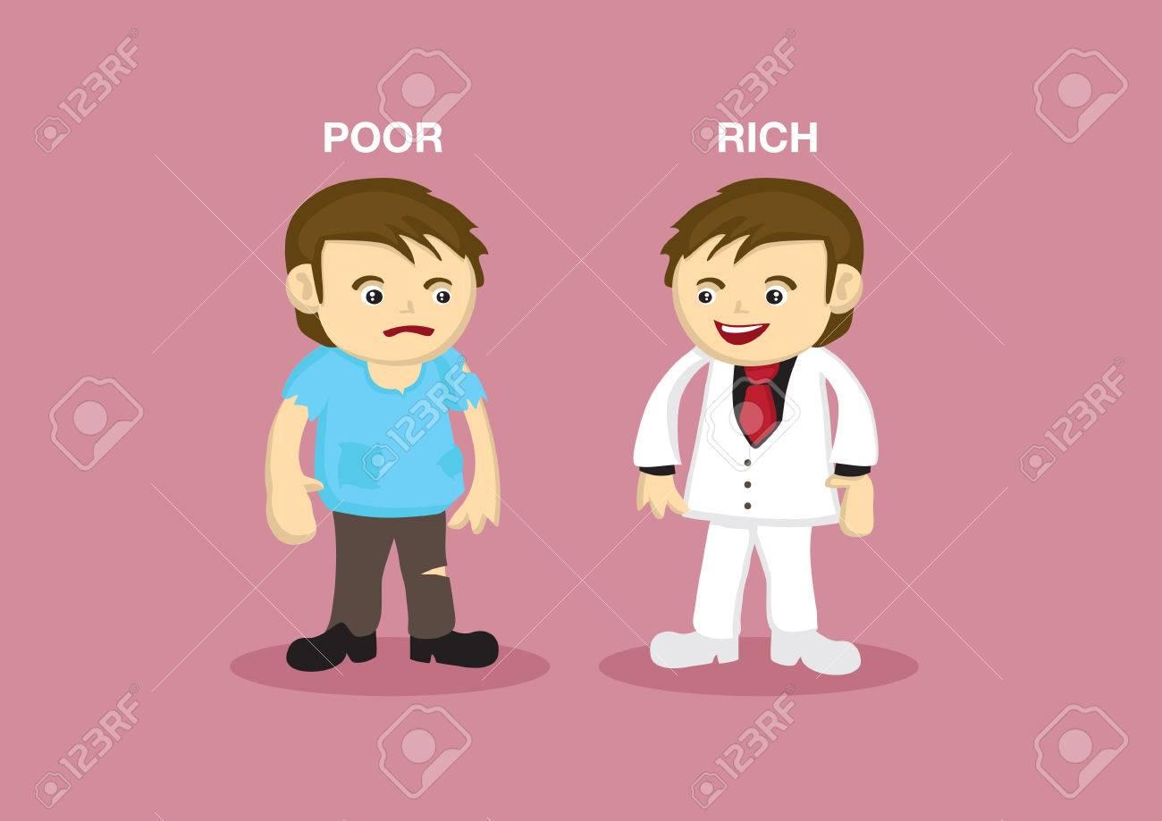 Vector Illustration D Un Homme Riche Habille En Costume Blanc Chic