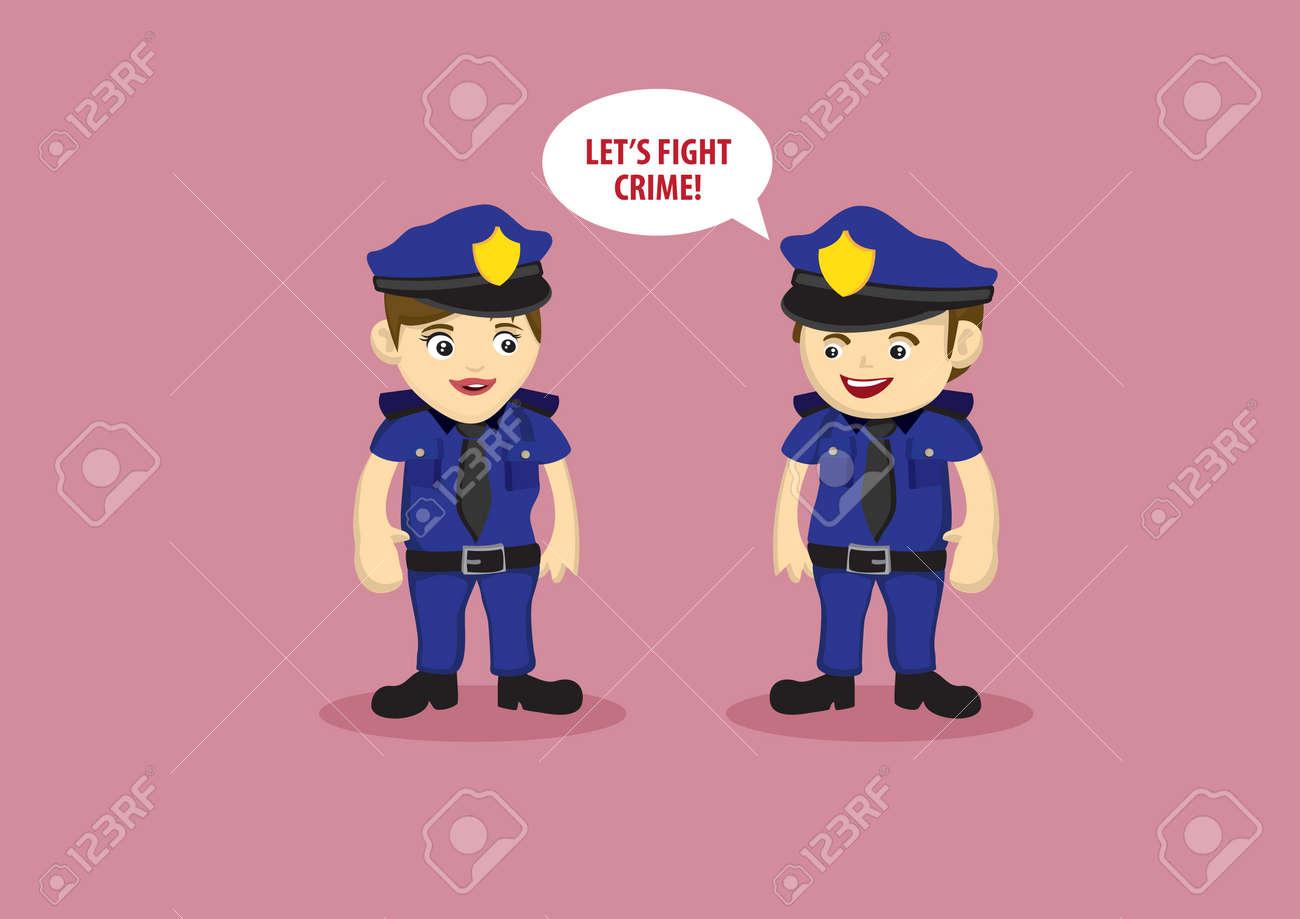 女性警察官の犯罪と闘う言ってみ...