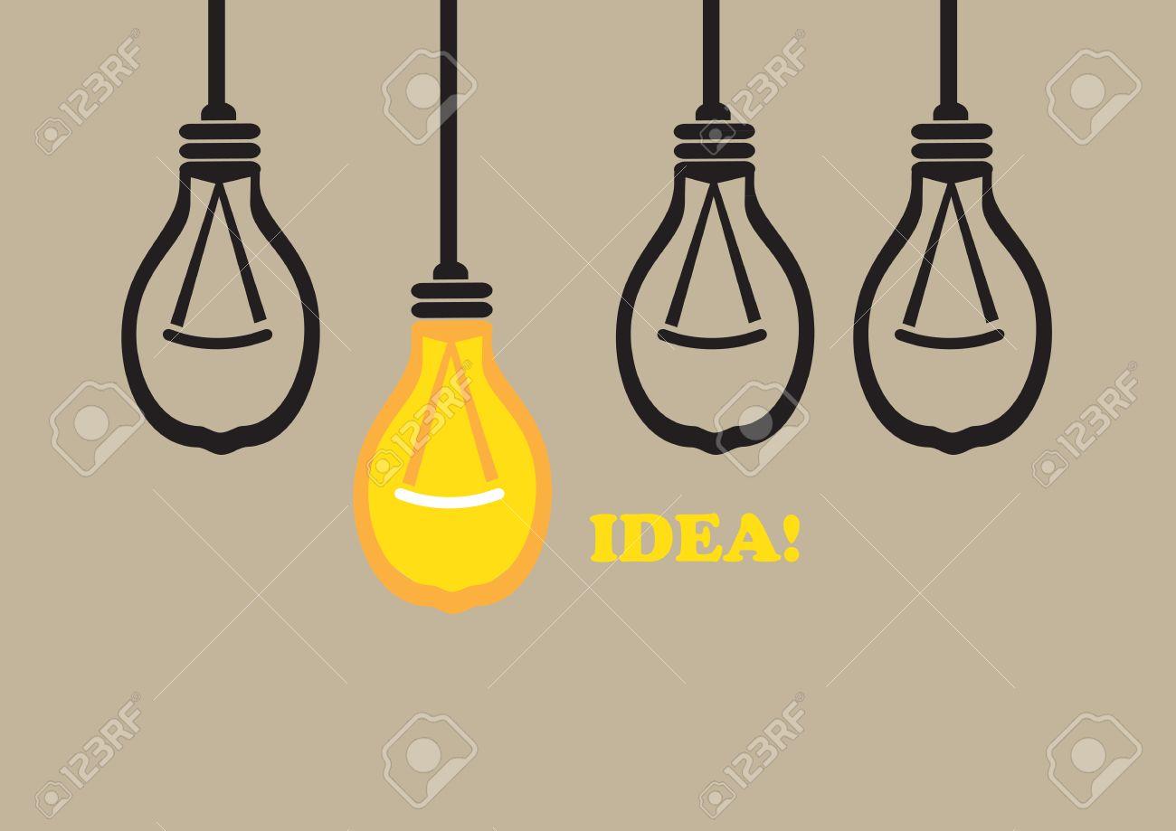 Colgante Lámpara Bombilla Luz Ilustración De Dibujos