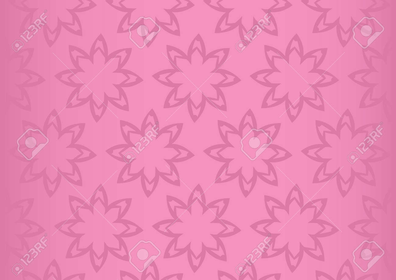 Vector Background With Repetition Of Simple Flower Pattern Design