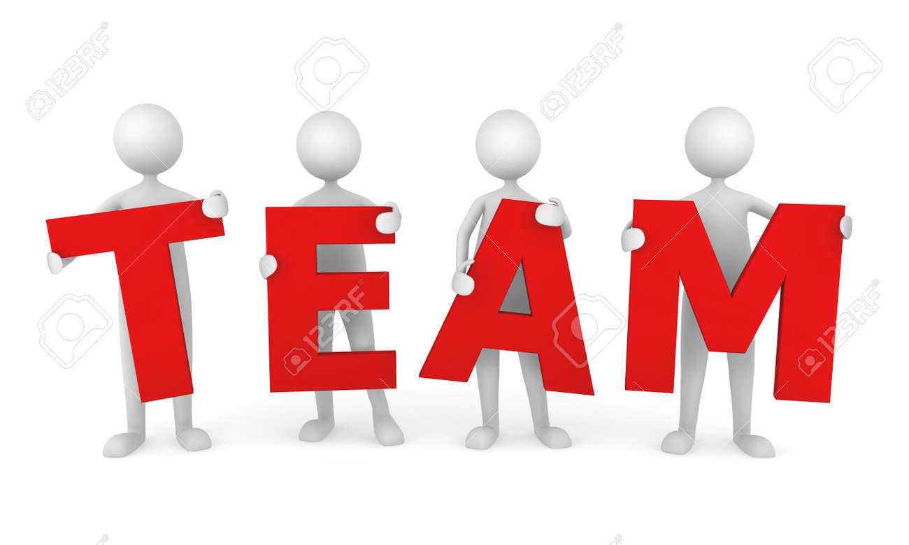 3D people working as a team. Great concept depicting teamwork and cooperation. Stock Photo - 7163502