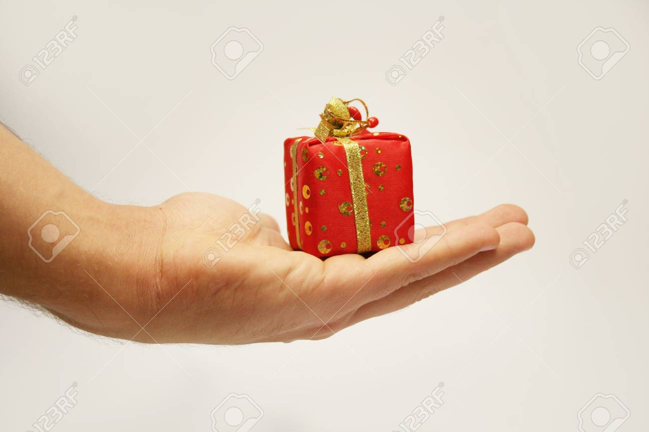 New-year gift on a palm Stock Photo - 3919471