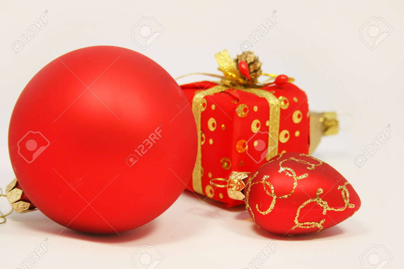 Red christmas toys for holiday Stock Photo - 3919468