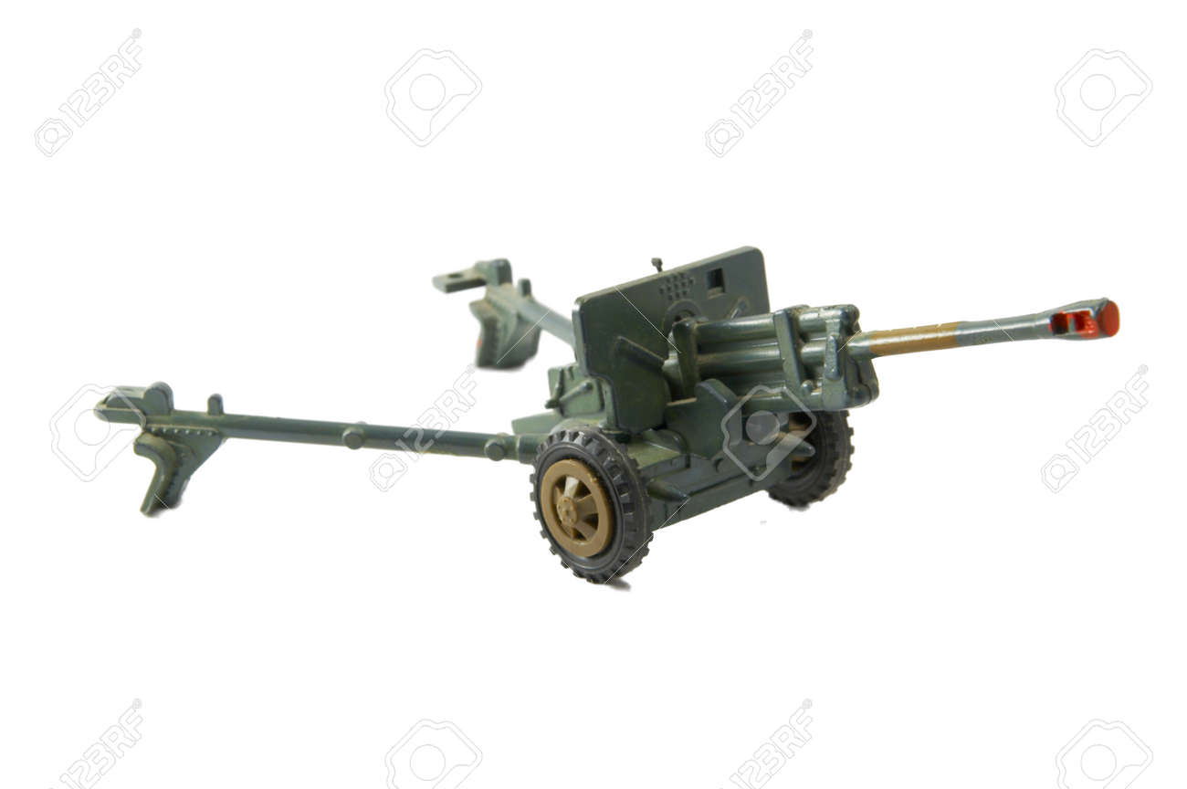 A children's toy - a gun executed in details Stock Photo - 1599705