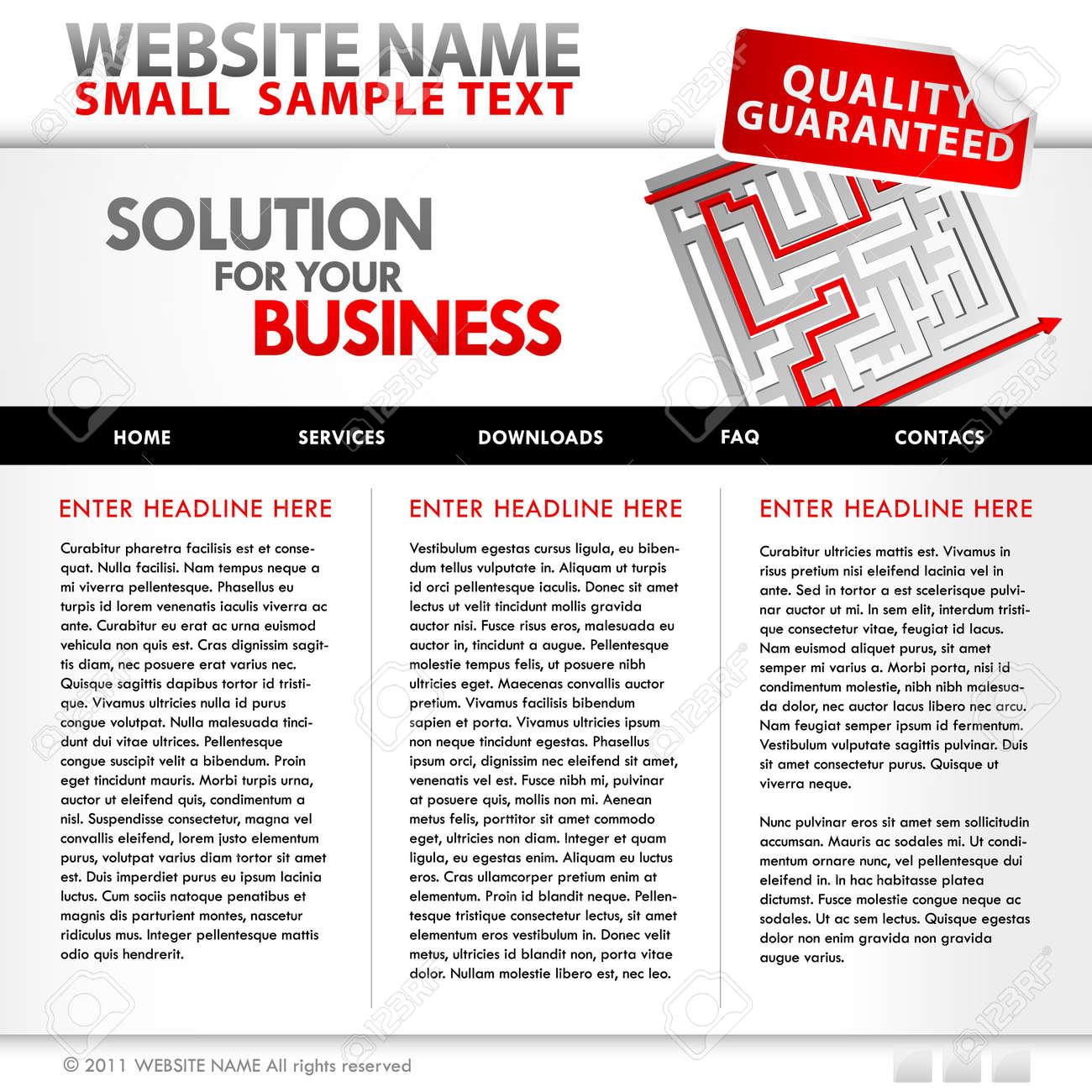Website business template Stock Vector - 9930472
