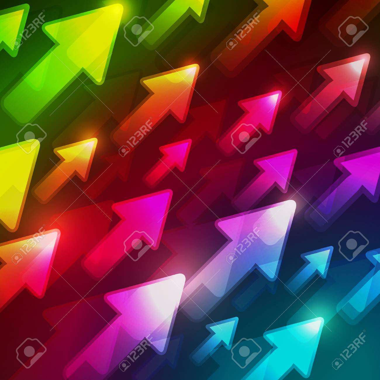 Abstract Colorful Direction Background Stock Vector - 11703764