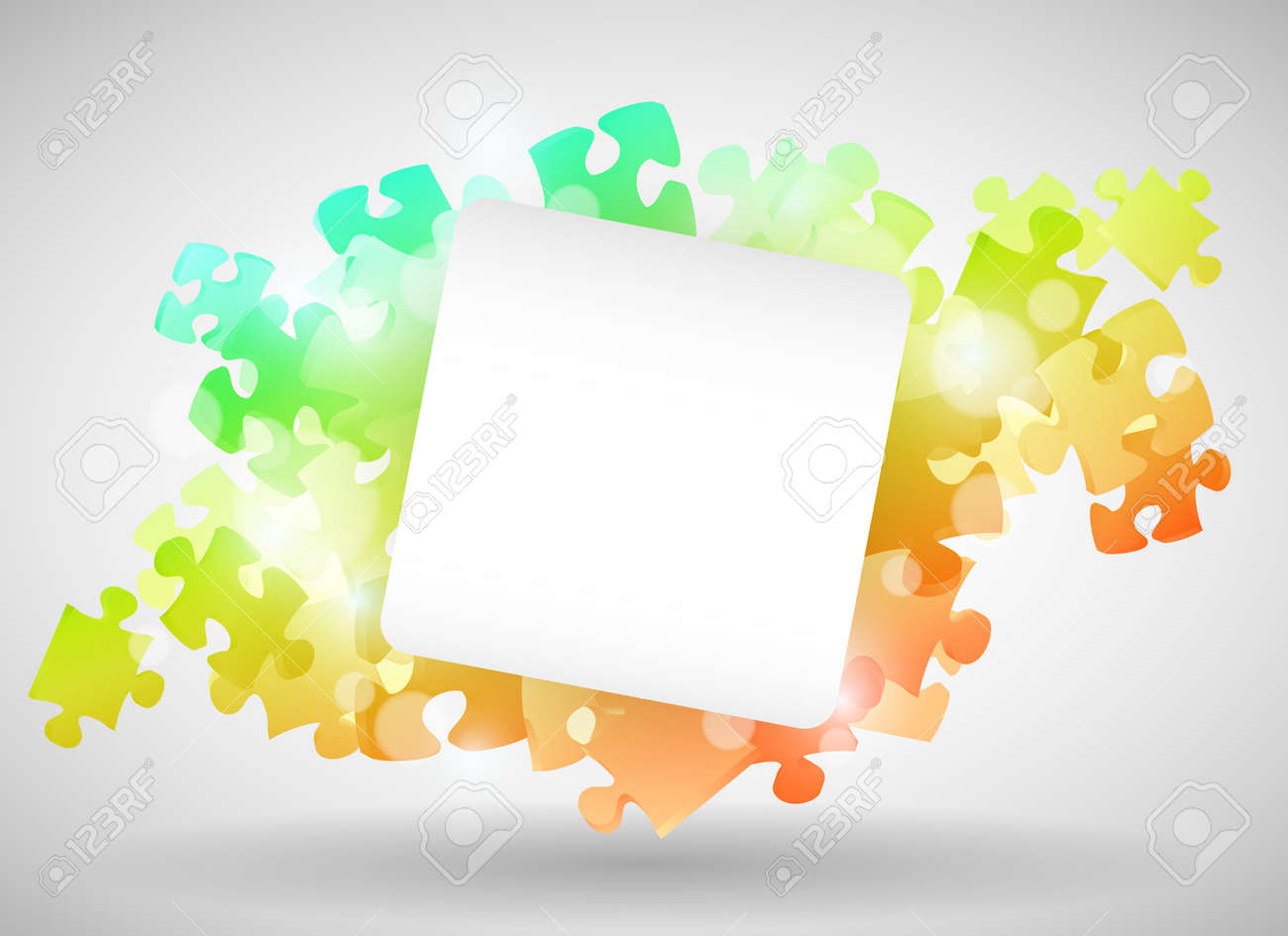 Colorful Puzzle Design with paper Stock Vector - 12498111