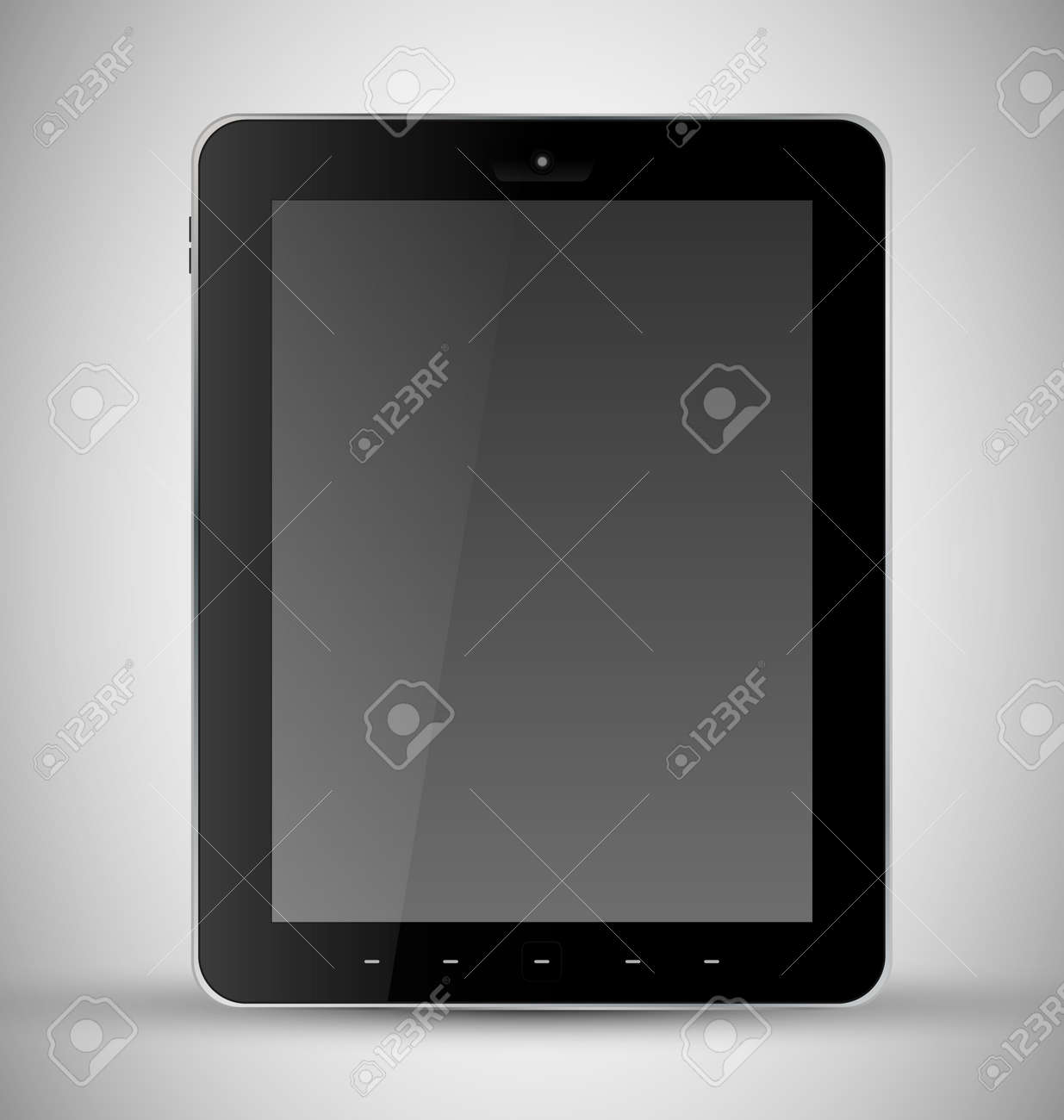 Common Black Tablet with webcam Stock Vector - 13098705