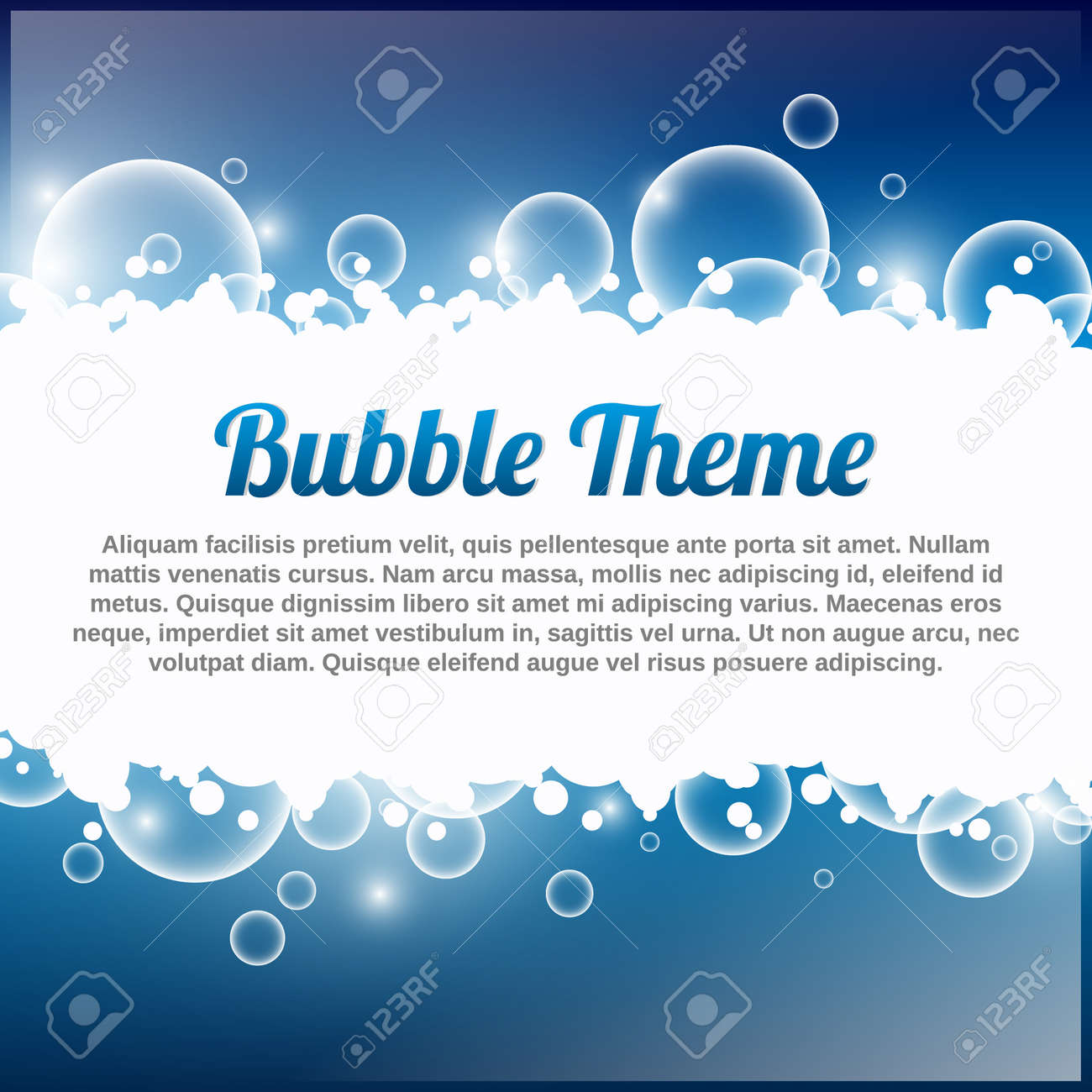 blue bubble theme with place for your text royalty free cliparts