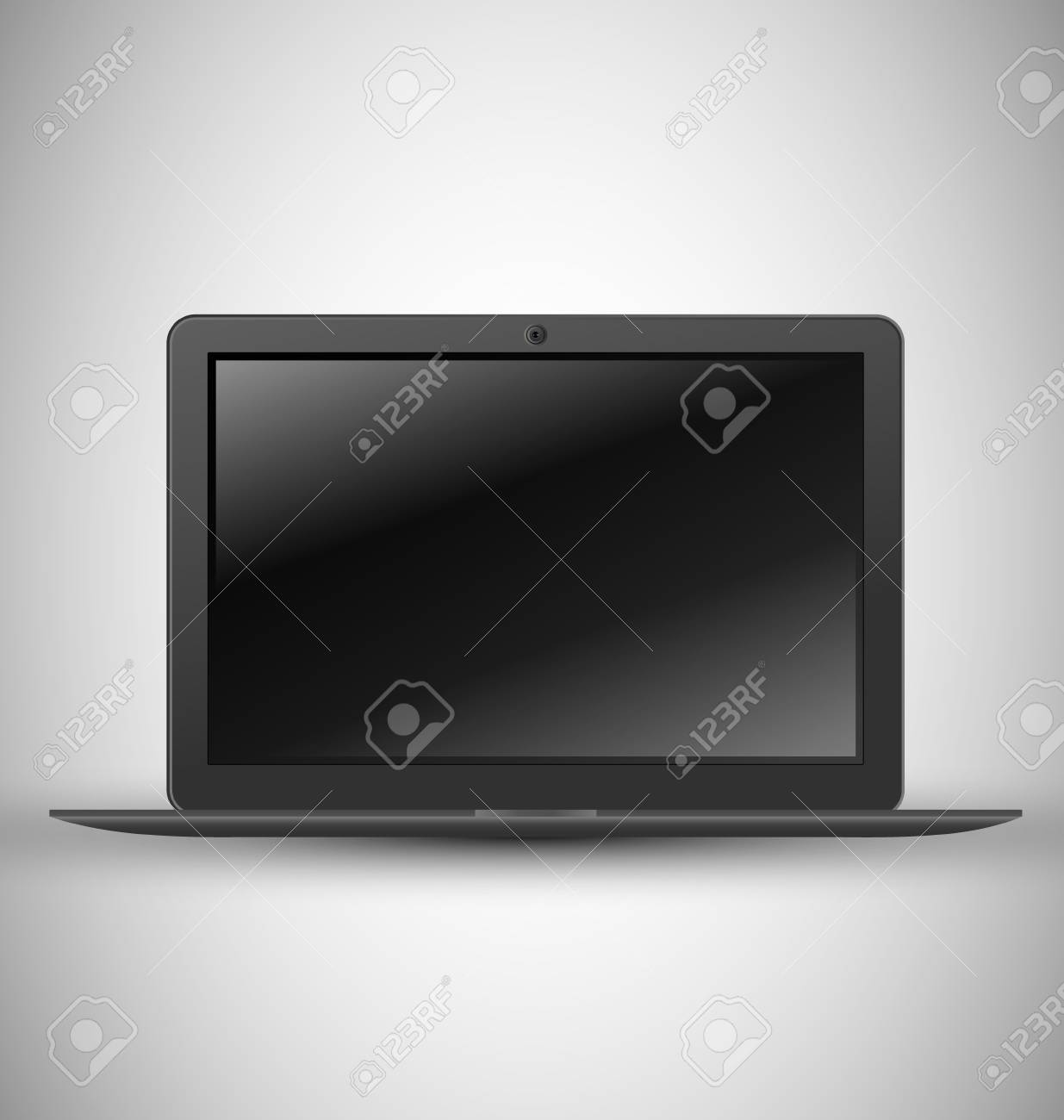 black Casual notebook with modern design Stock Vector - 13707575