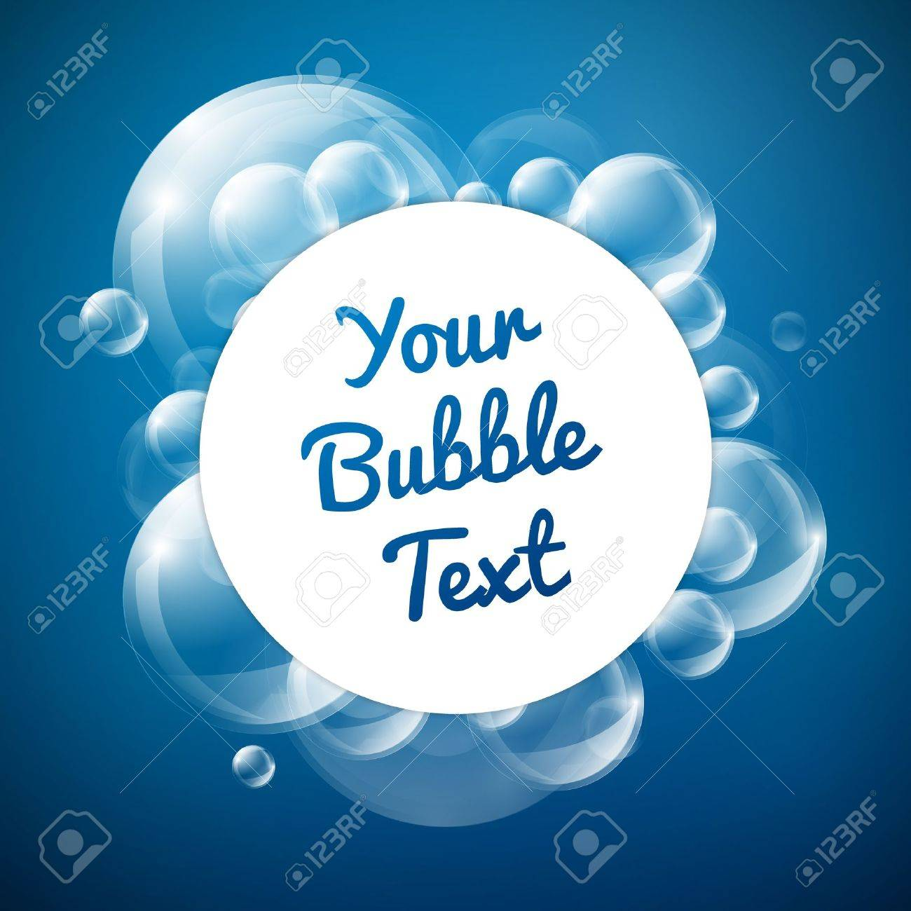 Blue Bubble Theme with place for your text Stock Vector - 15689621