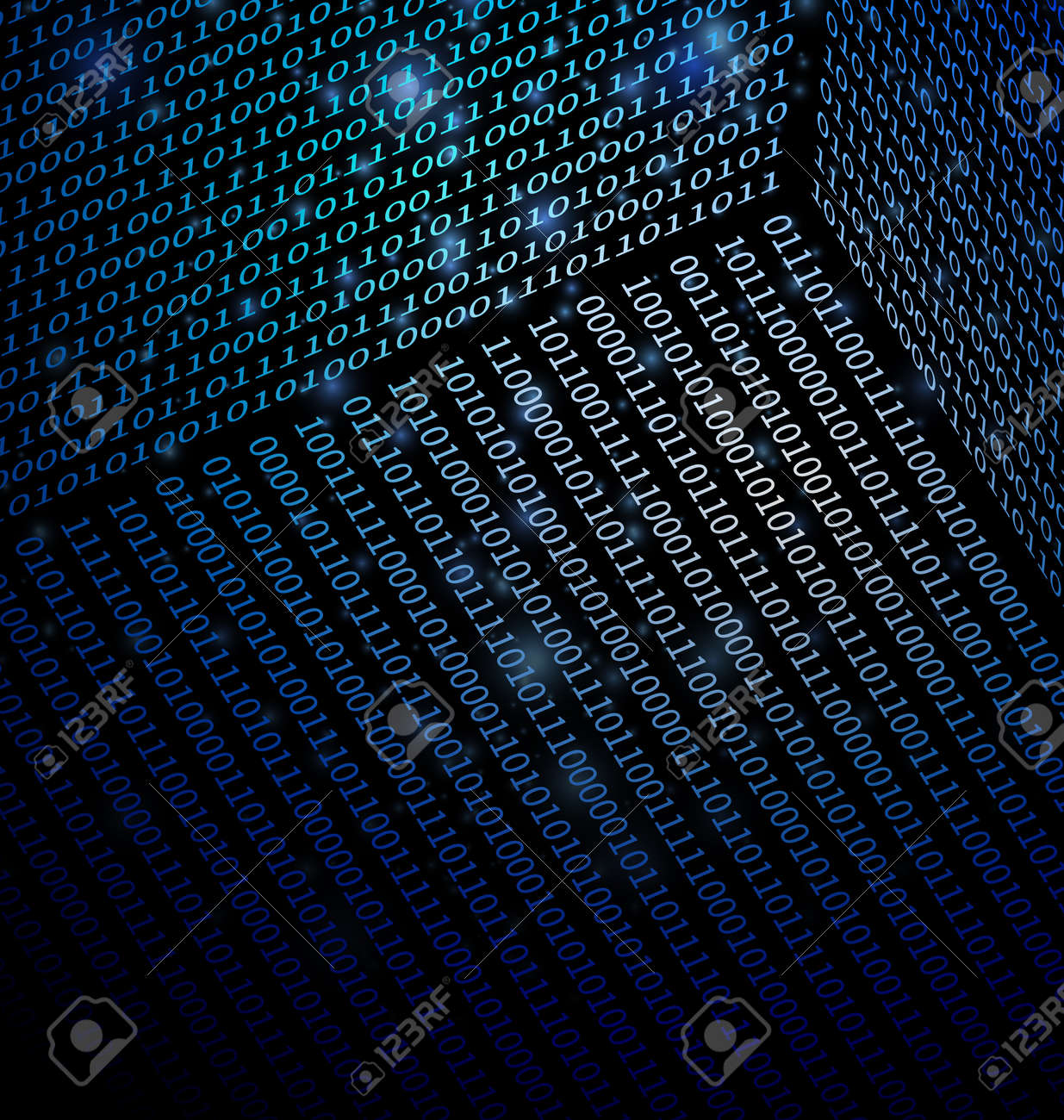 Blue Binary Data technology background Stock Photo - 19071200
