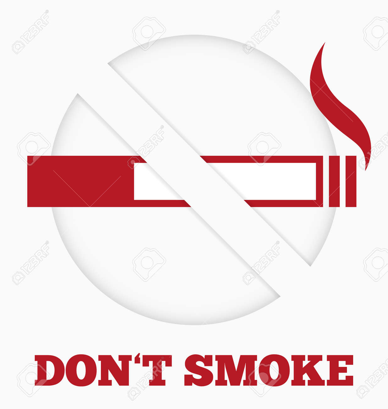 Modern paper no smoking sign Stock Vector - 20595400