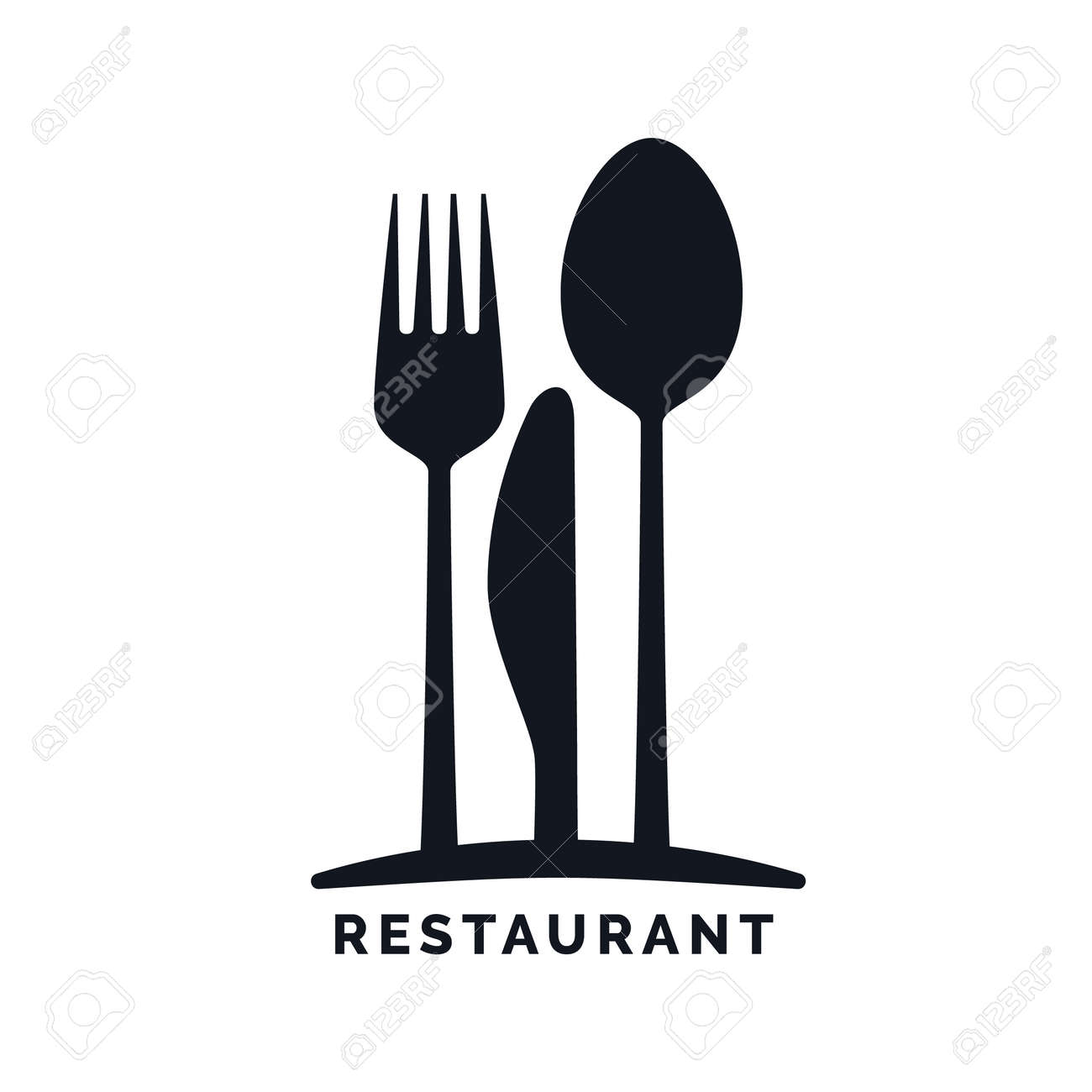 Gastronomy restaurant symbol fork knife and spoon logo gastronomy restaurant symbol fork knife and spoon logo template stock vector buycottarizona Image collections