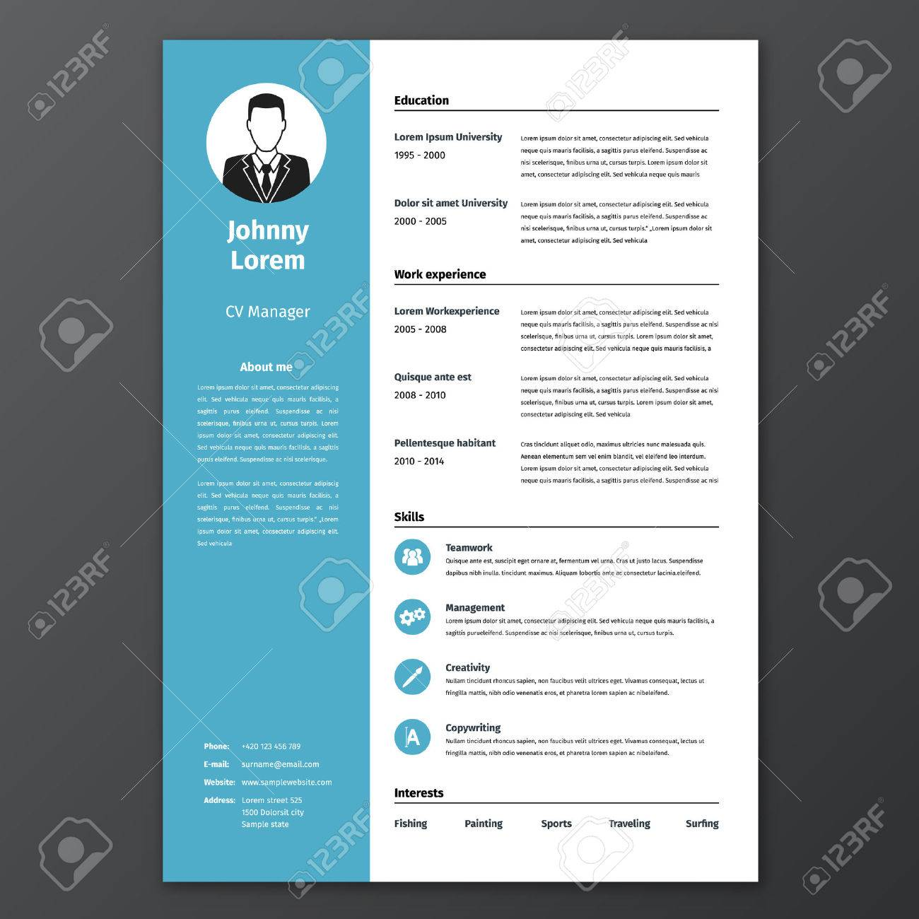 CV Resume Template Royalty Free Cliparts, Vectors, And Stock ...