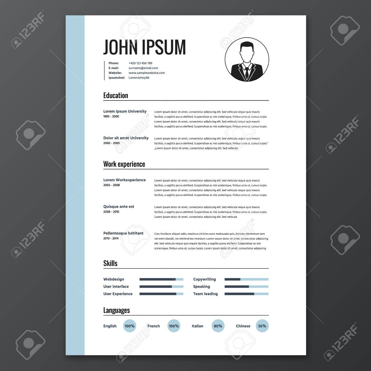 Cv resume template cv resume template 48173576 yelopaper Images