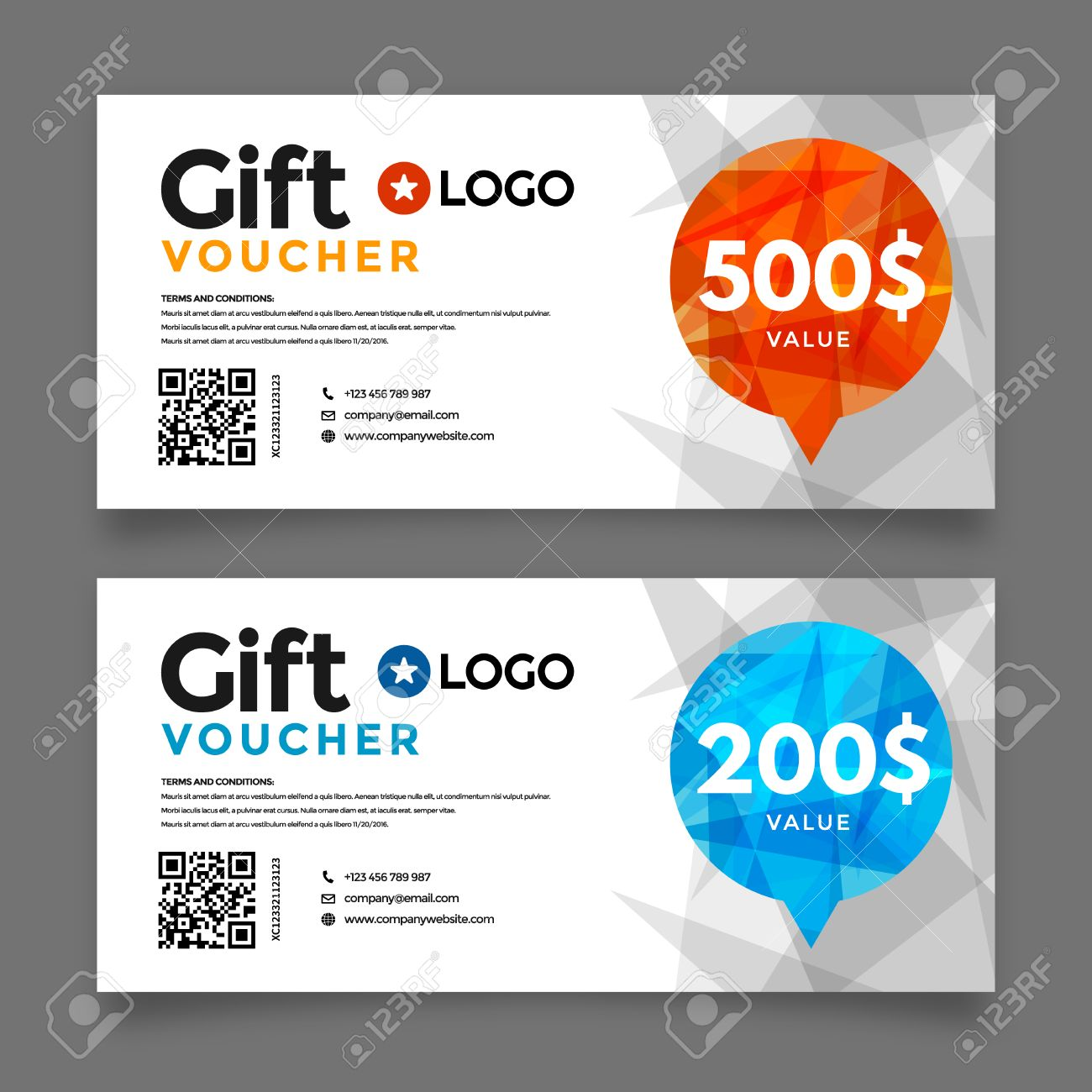 gift voucher template premium certificate coupon vector graphic gift voucher template premium certificate coupon vector graphic design stock vector 48360370