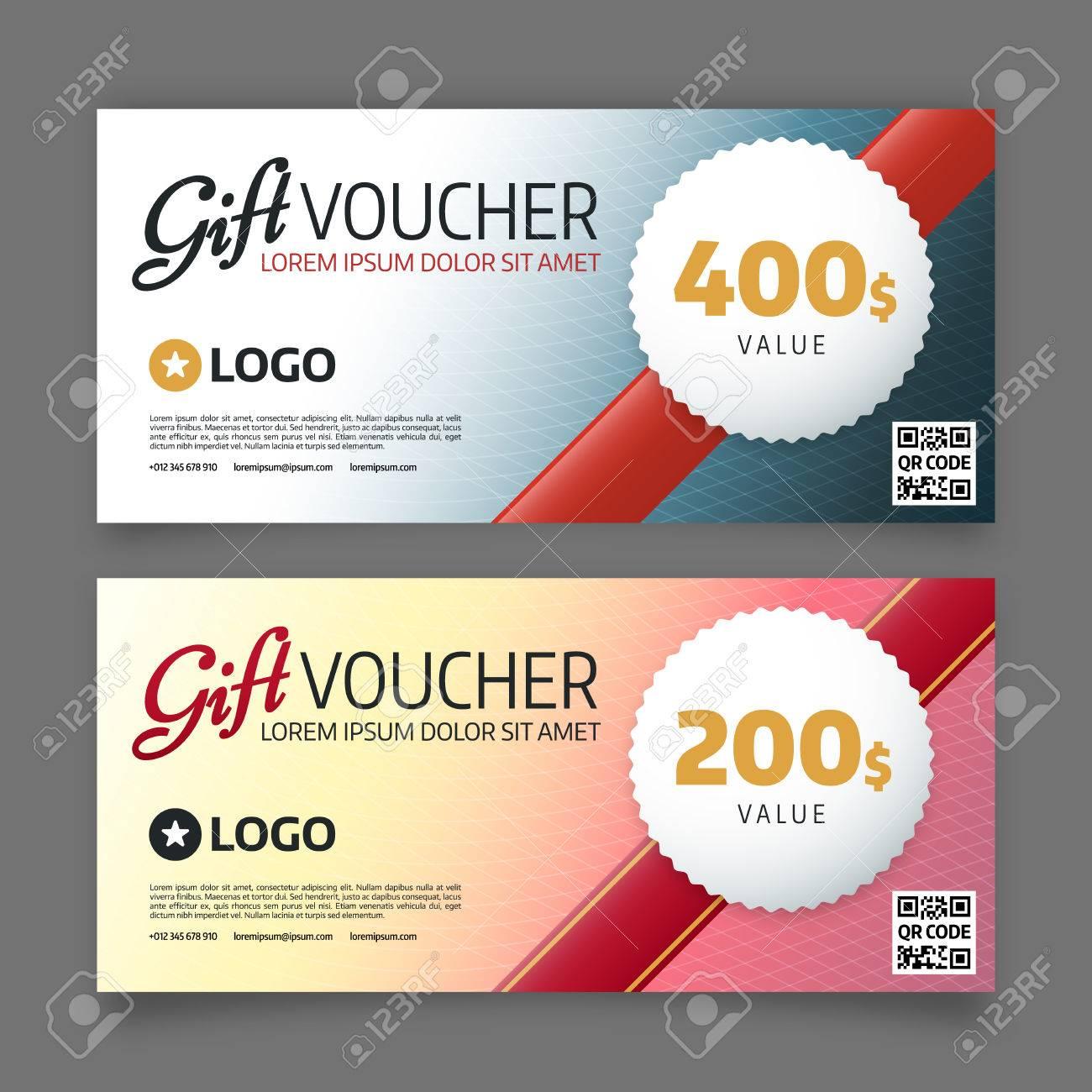 Gift Voucher Template Premium Certificate Coupon Graphic Design