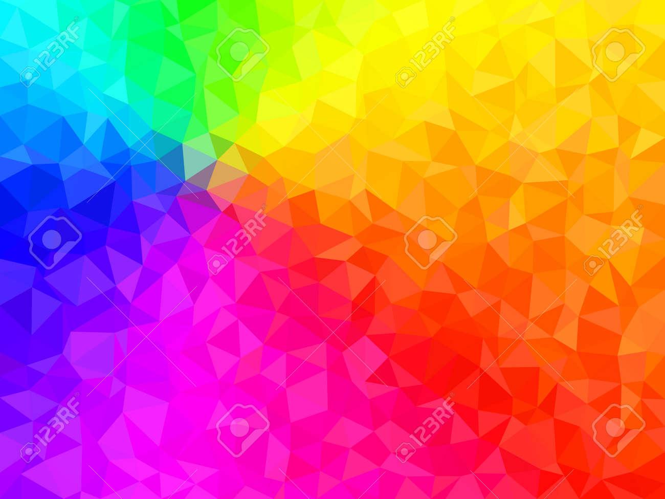 Resume De Fond Formes Geometriques Colorees Polygonal Vecteur Texture Couleurs Du Spectre Arc Clip Art Libres De Droits Vecteurs Et Illustration Image 61610729