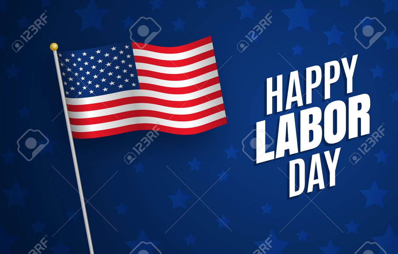 Labor Day Graphics Usa Flag Holiday In United States Celebrated
