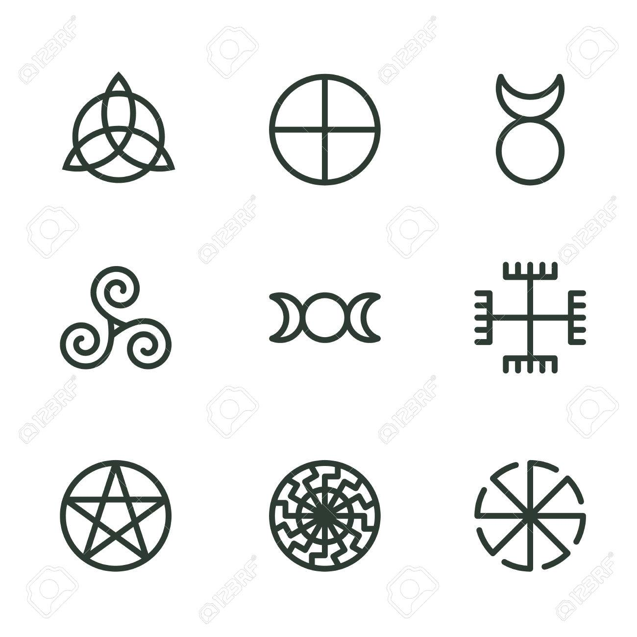 Pagan ancient symbols mystery sacred icons illustration vector pagan ancient symbols mystery sacred icons illustration vector stock vector 79651925 buycottarizona