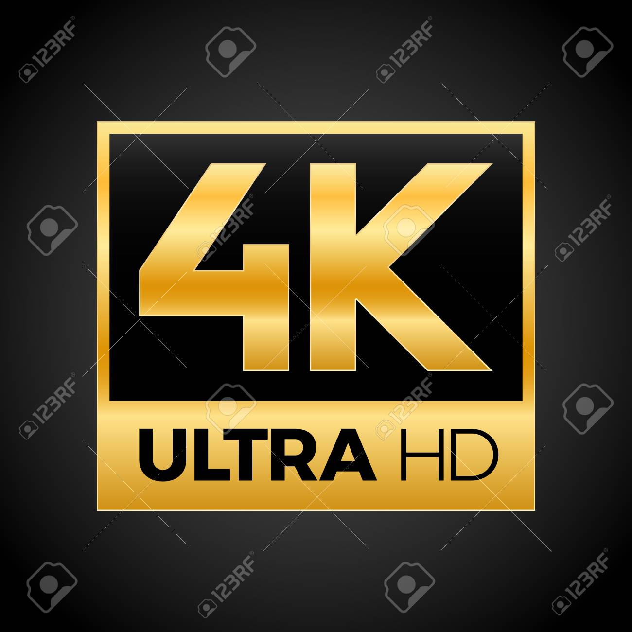 4k ultra hd symbol, high definition 4k resolution mark, uhd