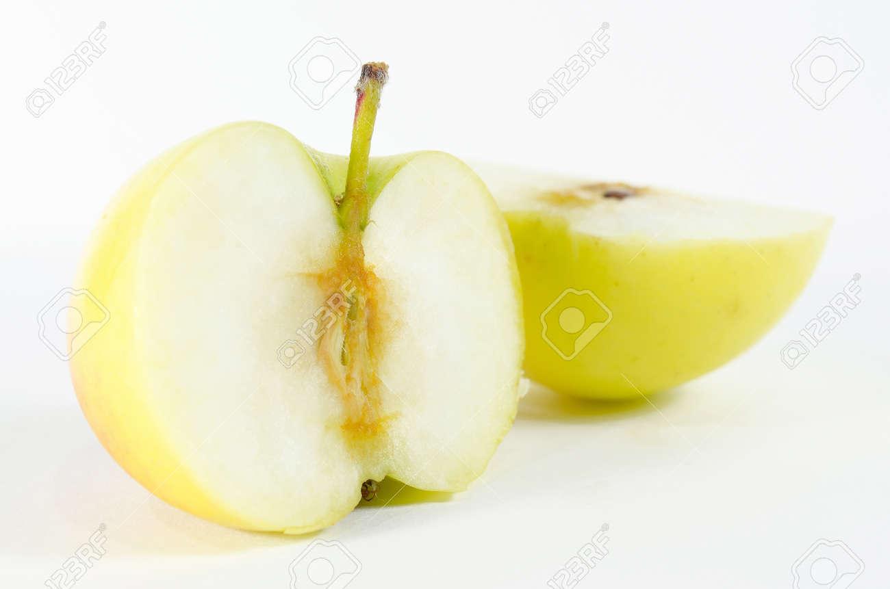 two piece apple Stock Photo - 12626109