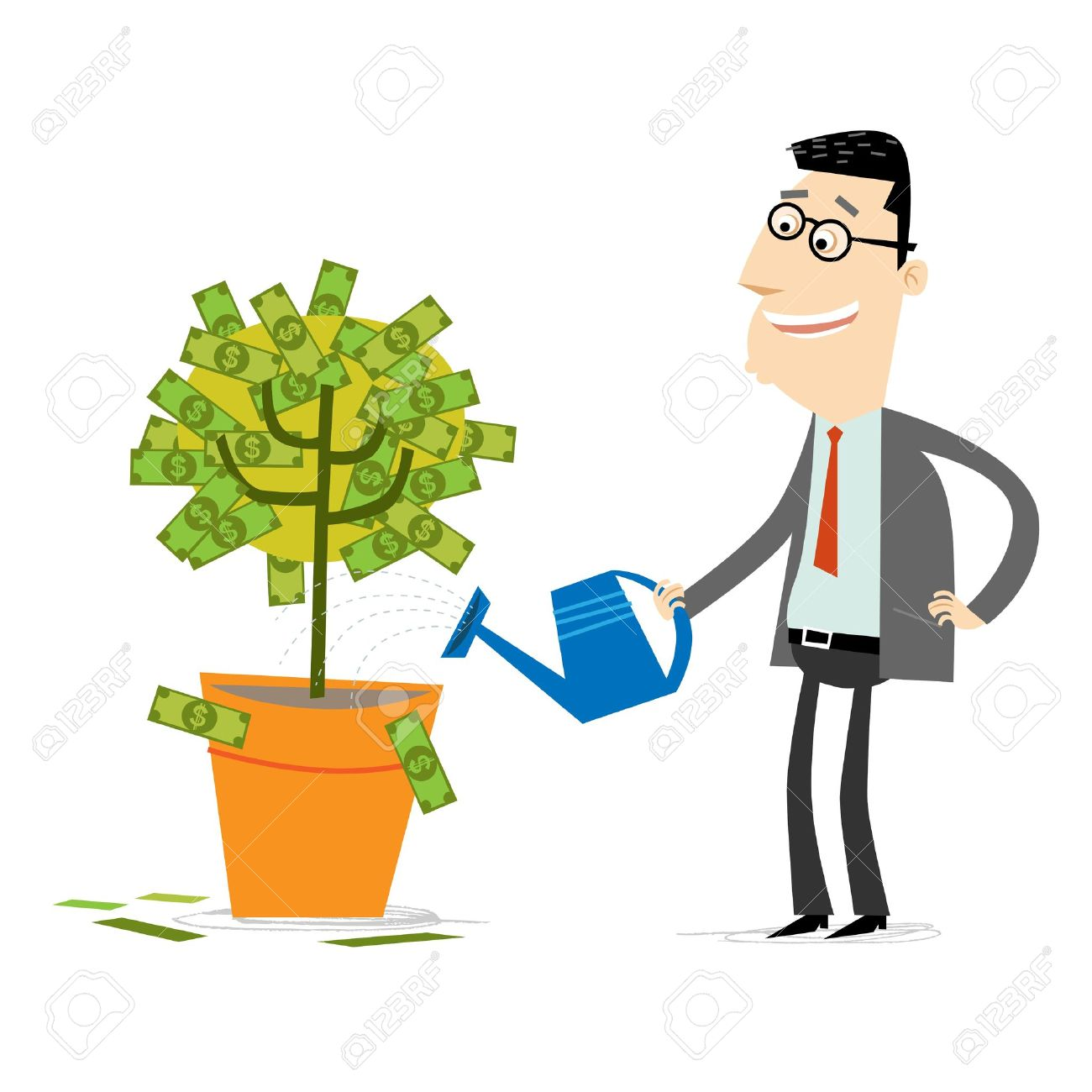 money tree royalty free cliparts vectors and stock illustration rh 123rf com Play Learn Grow Clip Art Growing Tree Clip Art