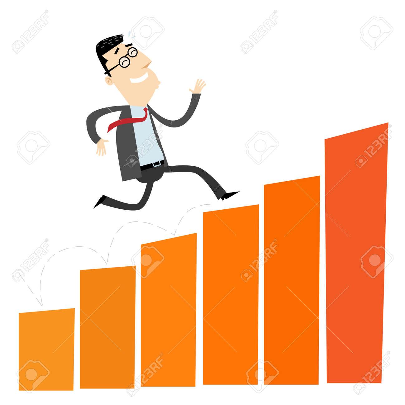 Climbing Businessman Stock Vector - 19707003
