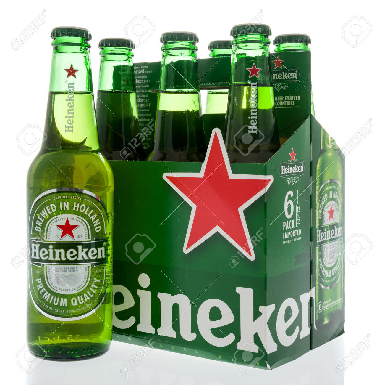 Winneconne Wi 8 May 2019 A Six Pack Of Heineken Beer On Stock Photo Picture And Royalty Free Image Image 136771235