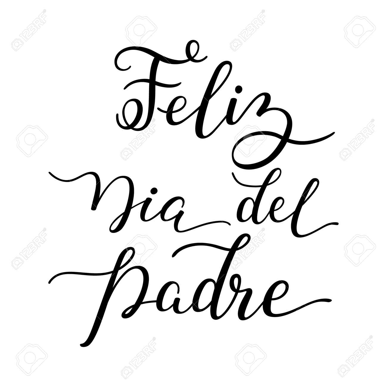 hand lettering happy father s day in spanish feliz dia del padre
