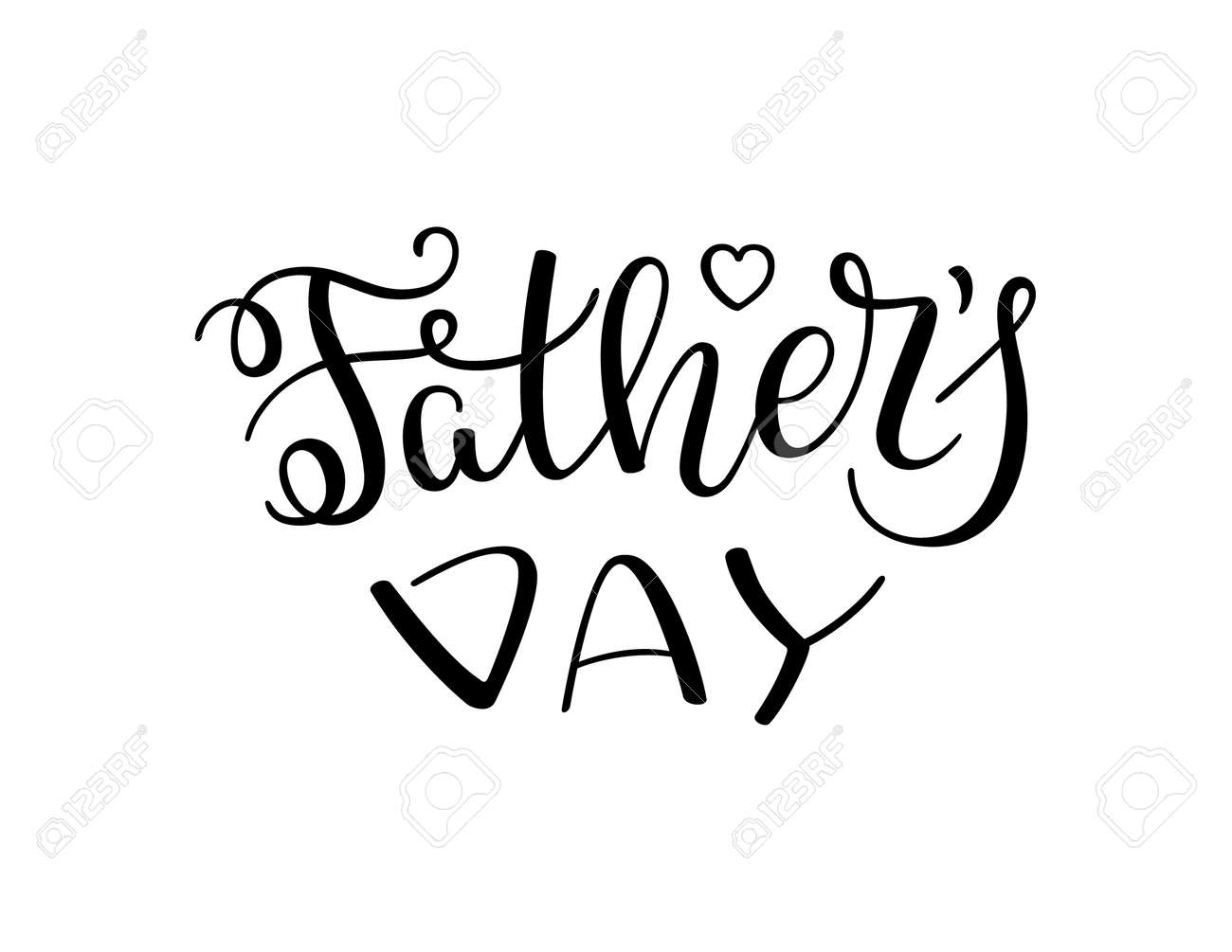 Hand Lettering Father\'s Day. Template For Greeting Card, Poster ...