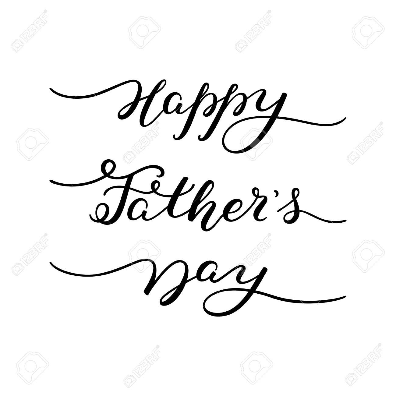 hand lettering happy father s day template for greeting card