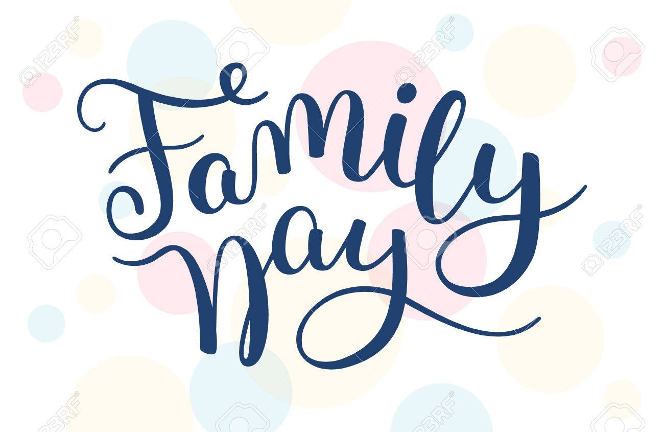 family day hand lettering template for card poster print royalty