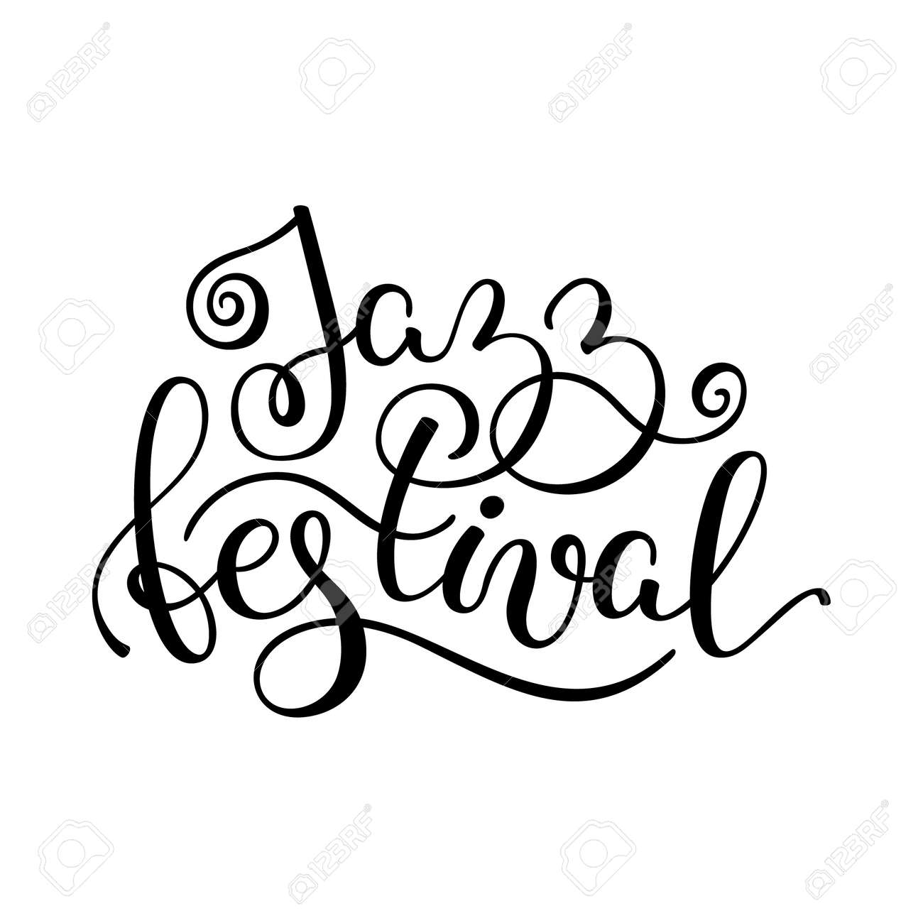 jazz festival hand lettering template for card poster print