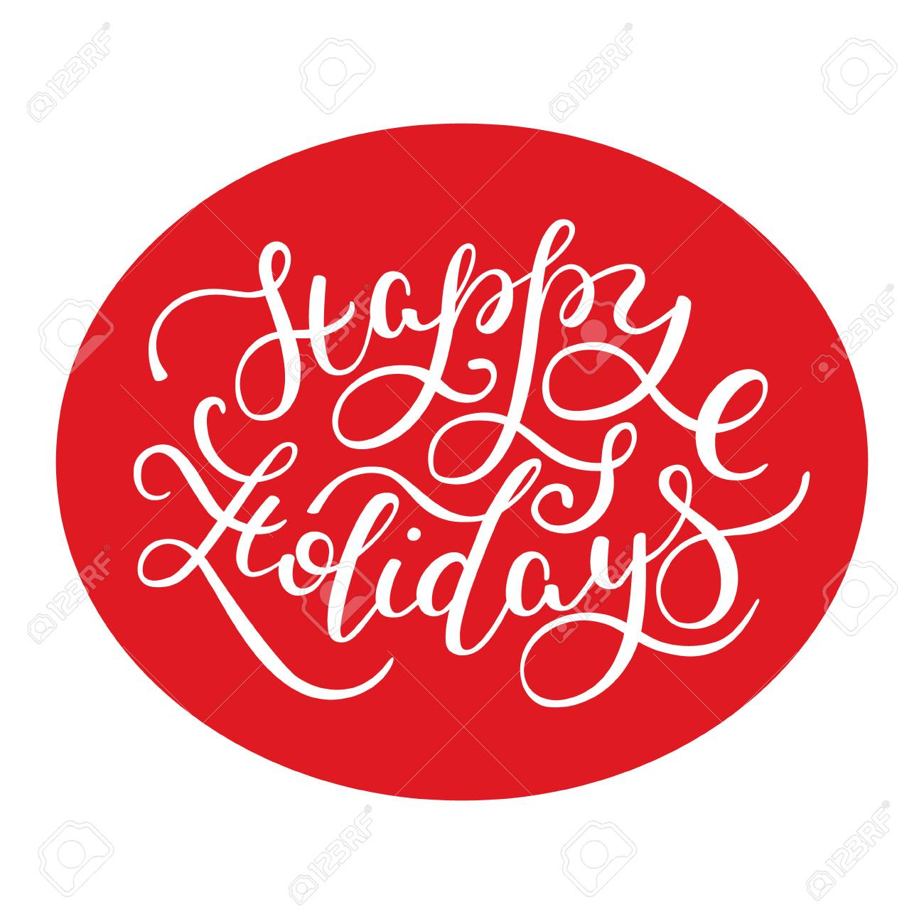 happy holidays hand lettering template for card poster print