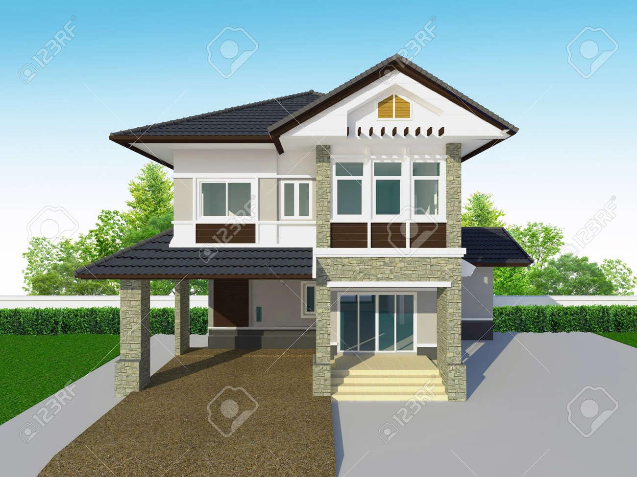 Häuser Außen Lizenzfreie Fotos, Bilder Und Stock Fotografie. Image ...