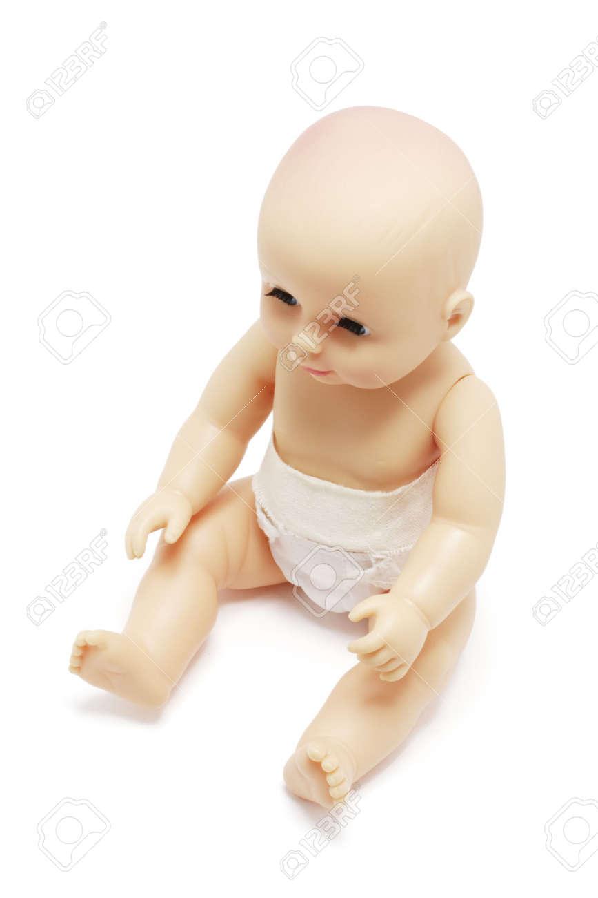 baby doll on white background Stock Photo - 10811456