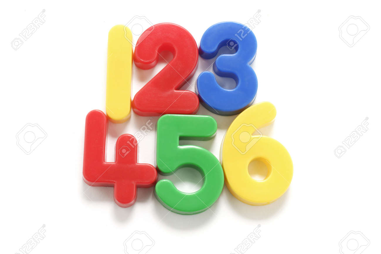 Plastic Numbers on White Background Stock Photo - 2900096