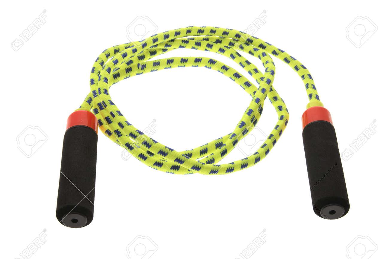 Skipping Rope on Isolated White Background Stock Photo - 3534228