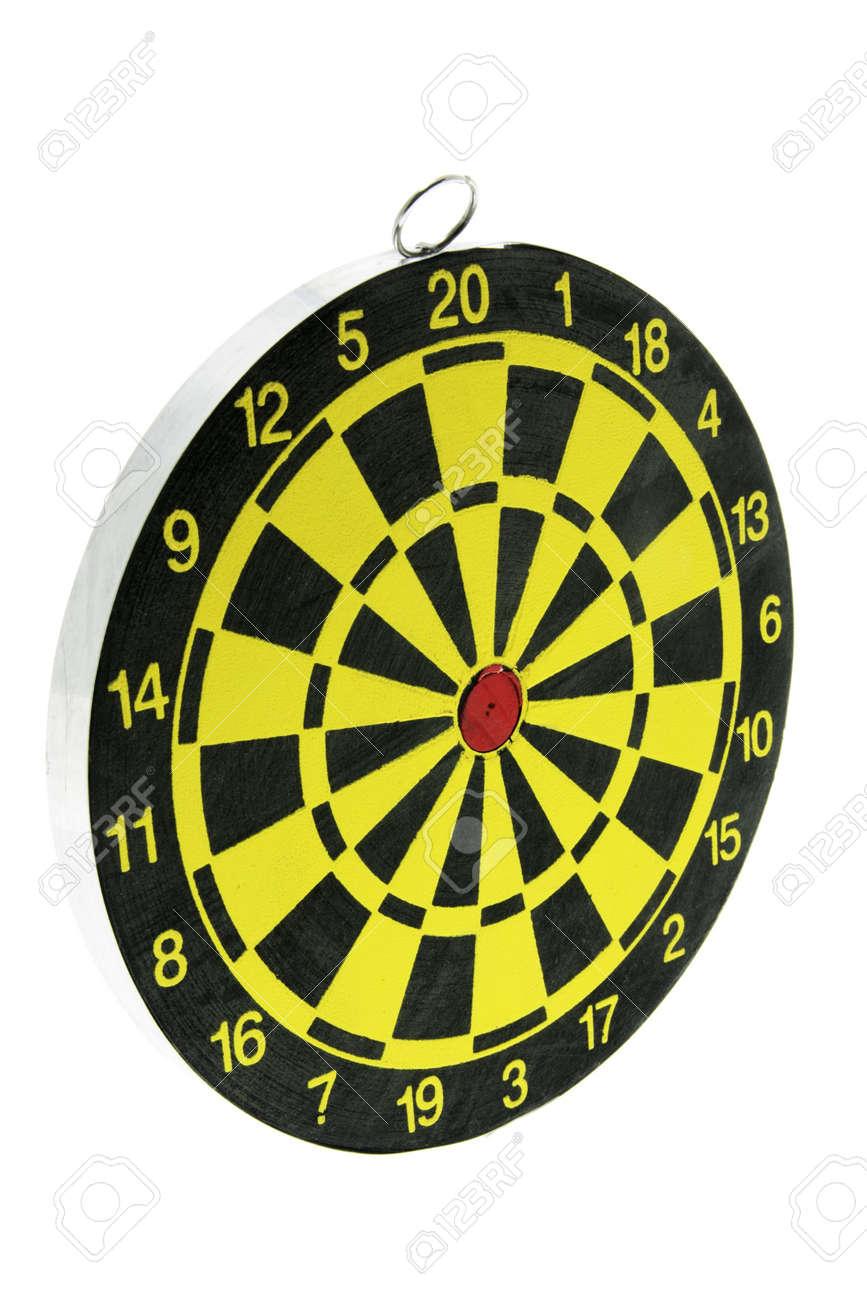 Dart Board on Isolated White Background Stock Photo - 3533579