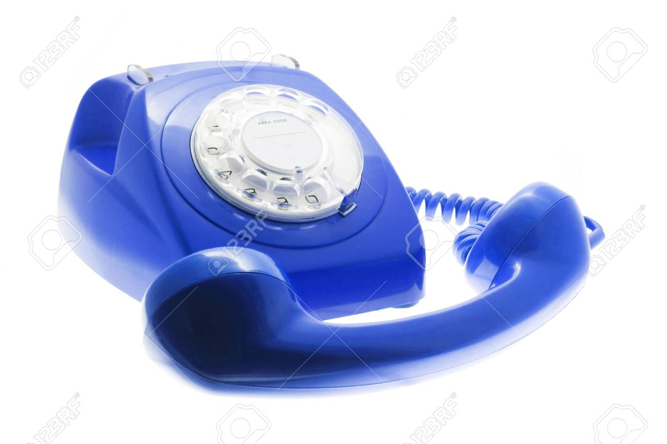 Immagini Stock Telefono Blu Isolati Su Sfondo Bianco Image 3918375