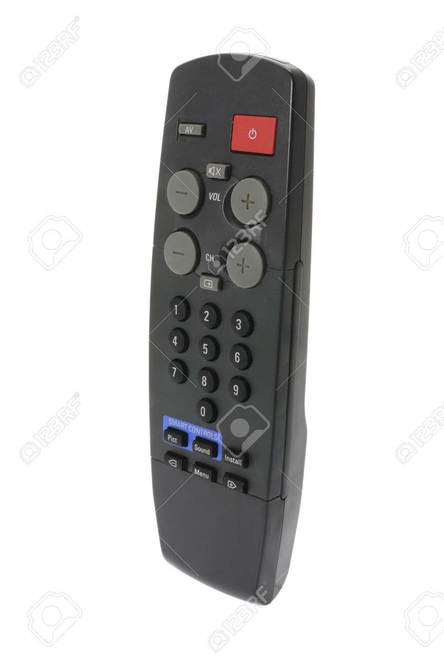 Remote Control on Isolated White Background Stock Photo - 4600300