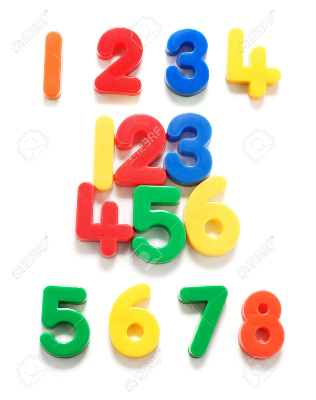 Plastic Numbers on White Background Stock Photo - 5051488