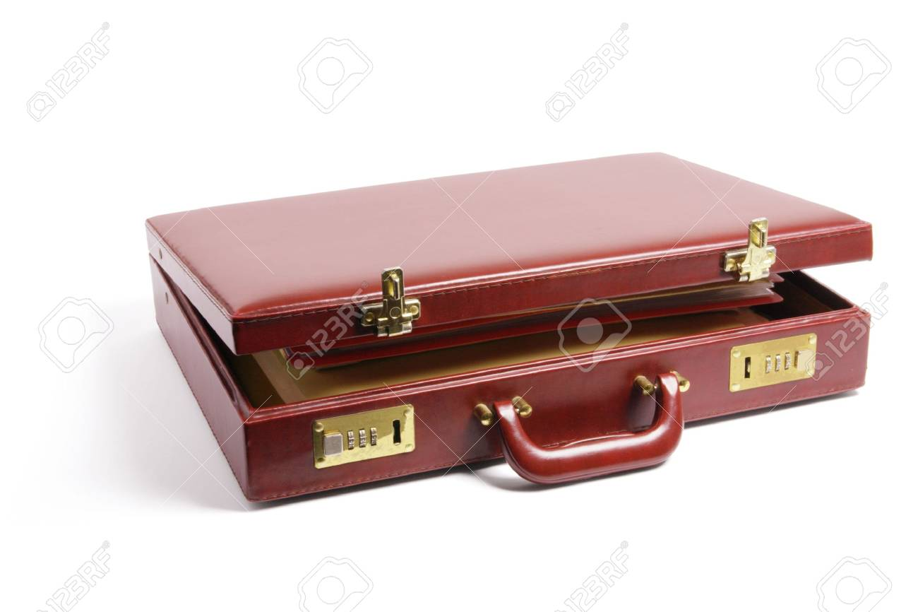 Briefcase on Isolated White Background Stock Photo - 6409892