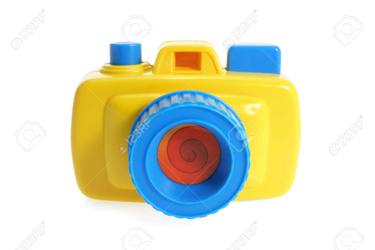 Toy Camera On Isolated White Background Stock Photo, Picture And ...