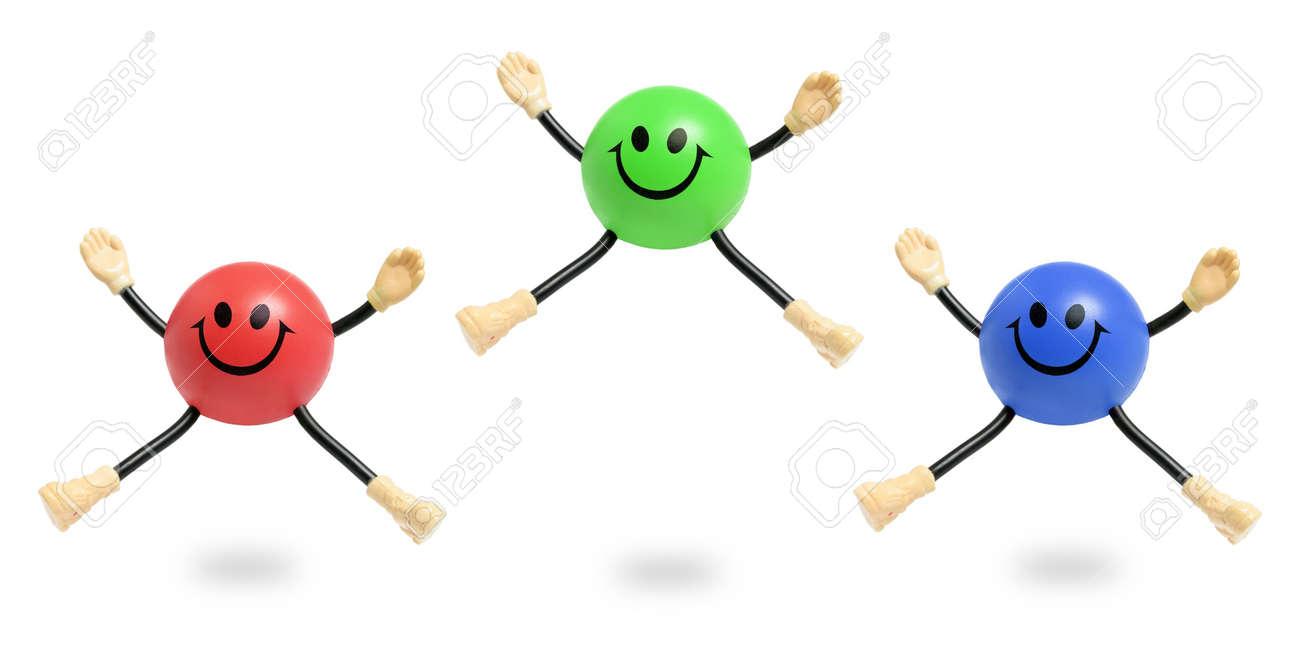 Smiley Toys on White Background - 6821450
